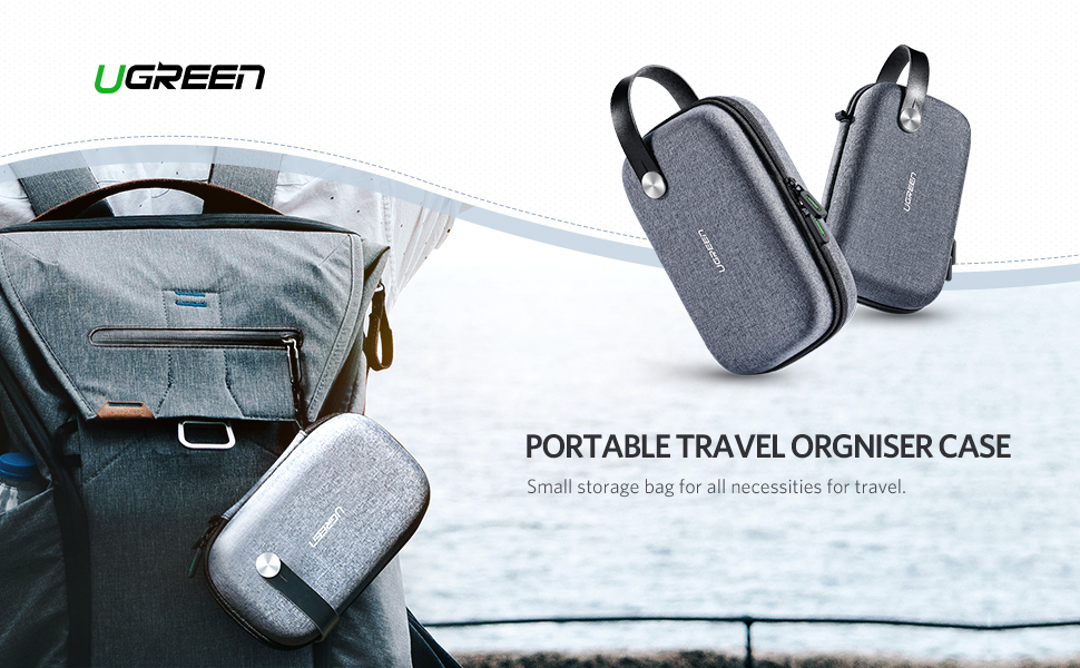 portable small travel case gadget carry bag accessories make up pouch