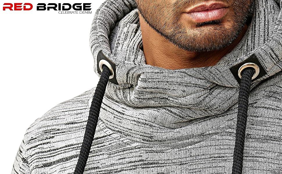 M2144 Redbridge Herren Hoodie Sweatshirt High Collar Pullover Kapuze Red Bridge Jeans Banner 1