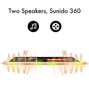 tablet- double speakers