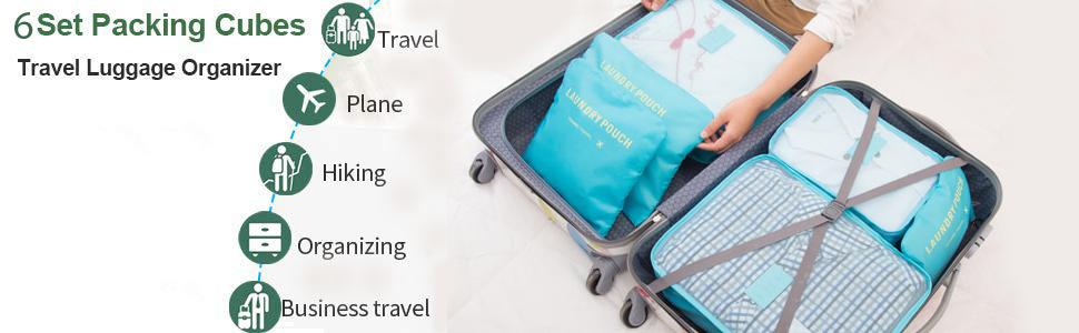 packing cubes travel organizer
