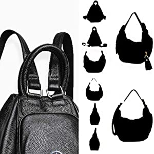 black multi use backpack bag black convertible backpack bag