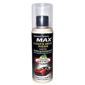rubbing compound, liquid wax polish, cleaning polish, scrubbing