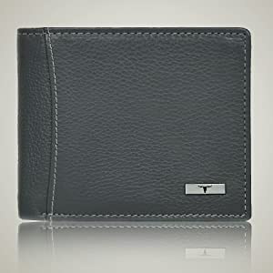 Wallets for men , Grey leather wallet for men , leather wallets