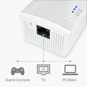 BrosTrend wifi range extender also supports wifi bridge function, connect your wired device to wifi