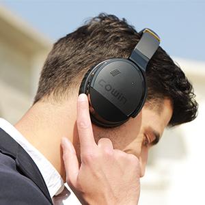 control on the headphones.