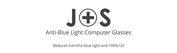 J+S Vision JandSVision J and S Sunglasses Blue light shield anti-blue light computer glasses review