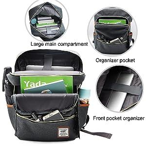 backpack for men women student backpack rucksack daypack canvas laptop backpack retro