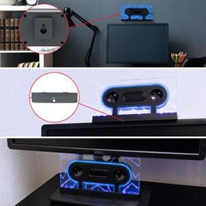 mount center speaker monitor computer speaker