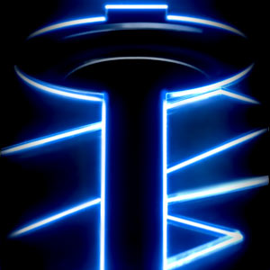 illuminate glow glowing led lights lighting blue computer speakers