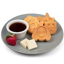 Estilo de vida - Waffles de animais