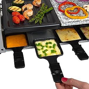 CucinaPro Queijo Raclette Elétrica Derreter CHURRASCO Grelhar Cozinhar Cozinhar Chef Gourmet Caseiro