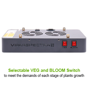 Two switches for viparspectra 450w led grow light