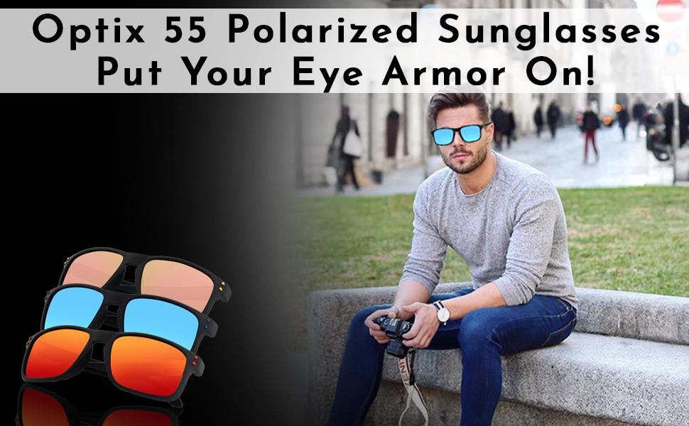 Stylish and polarized sunglasses for men.