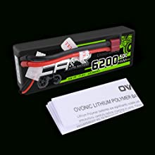 Ovonic 6200mAh 50C 2S lipo battery package