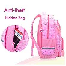 School Backpack for Elementary or Middle School Boys Girls Kids Waterproof Bookbags