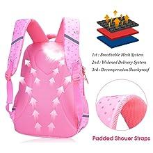Waterproof Girls Backpack Kids School Bookbag for Primary Students