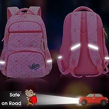 Bow Diamond Bling Waterproof Pink School Backpack Girls Book Bag