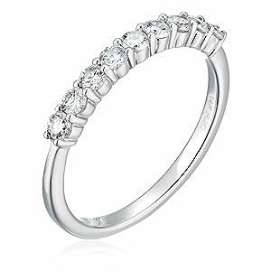 1/2 ctw Diamond Wedding Band in 14K White Gold