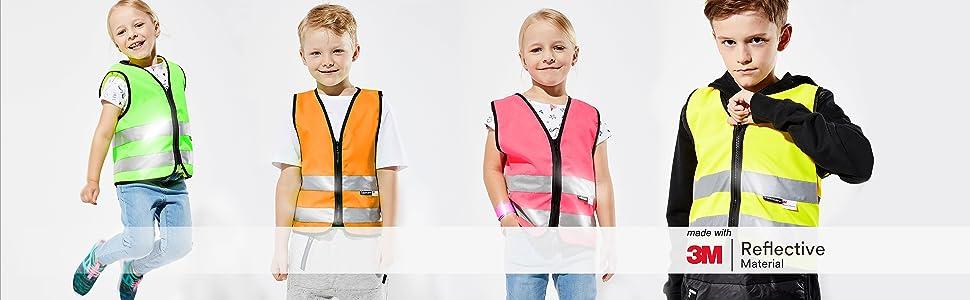 Children's safety vest banner