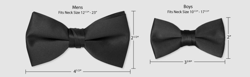 Tuxedo Park, Bow Tie, Sizing