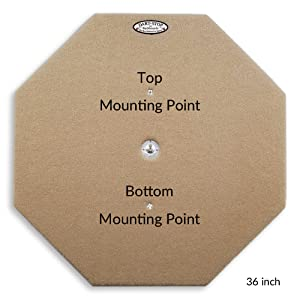 Dart-Stop Backboard Easy and Secure Wall Mounting