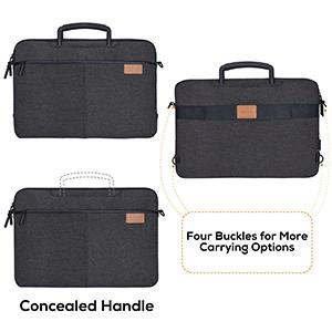 laptop bag handle hidden