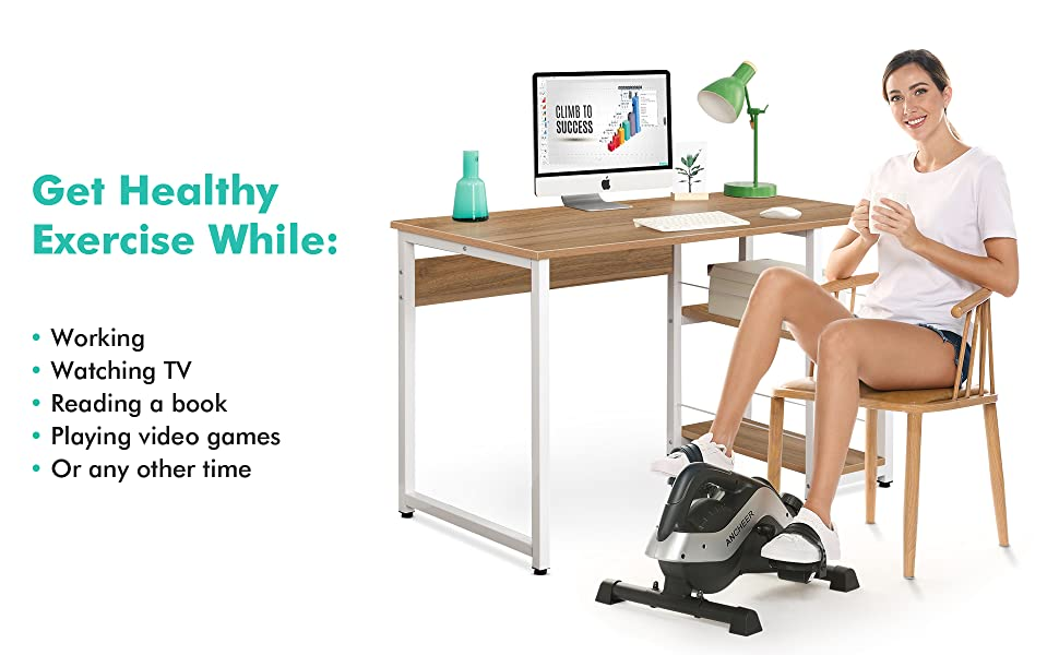 Exercise bike under the desk, mini portable bike, exercise equipment for arm and leg recovery