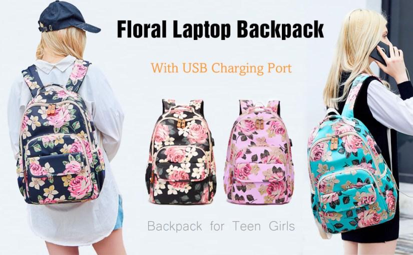 Girl's School Rucksack College Bookbag Lady Travel Backpack 14Inch Laptop Bag