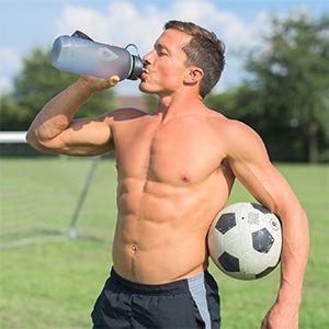 fitness mens durable soccer bottle