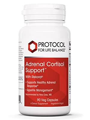 Protocol for Life Balance Adrenal Cortisol Support with Relora Stress Manager Relax Therapeutics