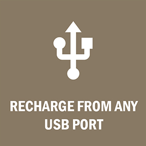 LuLu 7+ can be recharged from any USB port