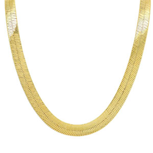 TUOKAY direct 18K Gold Herringbone Necklace