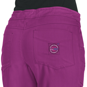 close up of koi Lite 721 Women's Peace Scrub Pant featuring two back pockets