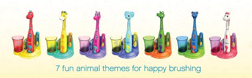 Brusheez: 7 Fun Animal-Themed Sets