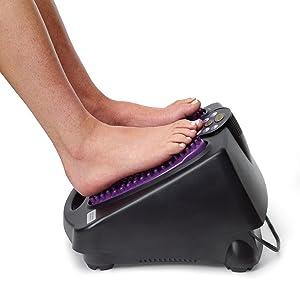 Tambor, modelo, usando, em, em, pés