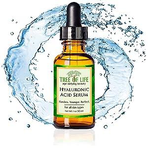 organic vegan hyaluronic acid serum for skin anti aging wrinkle moisturizer cream for face and skin