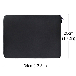 "Laptop Sleeve 13"" Black Neoprene Notebook Carrying Bag Pouch Cover"