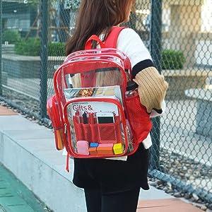 Transparent School Backpack