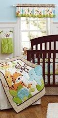 baby crib bedding sets for boys monkey elephant deer jungle nursery bedding decor