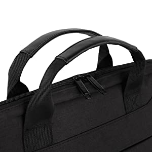 laptop bag with leather handles