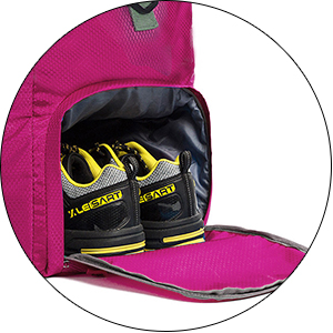 duffle bag shoe compartment