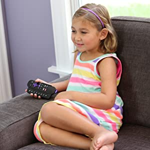 Kid using Sideclick for Fire TV