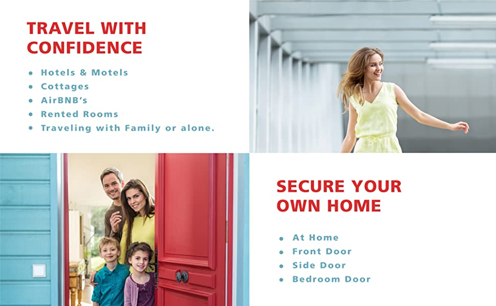Addalock the portable door lock for school travel and home security