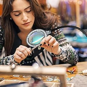 perfect for knitting, crocheting, cross stitch, beading, arts, crafts, jewelry making