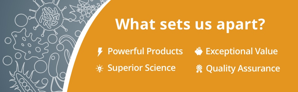What sets us apart?: Powerful Products, Exceptional Value, and Superior Science