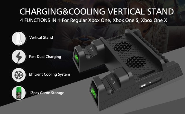 OIVO Vertical Cooling Stand for Xbox One X/XBOX ONE S/Regular XBOX ONE Cooler, Cooling Fan