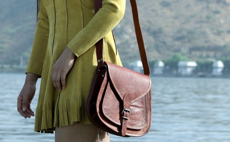 goat leather lady bag