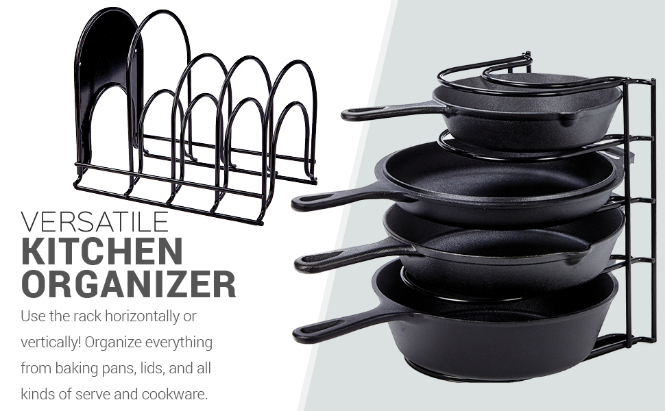 Heavy Duty Pan Organizer cast iron pan rack