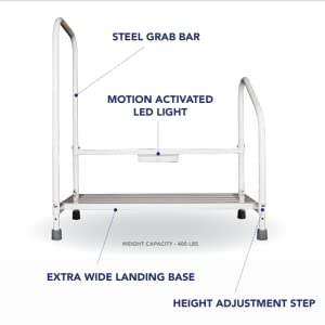 step2bed bed step stool fall prevention senior citizen home health aging in place