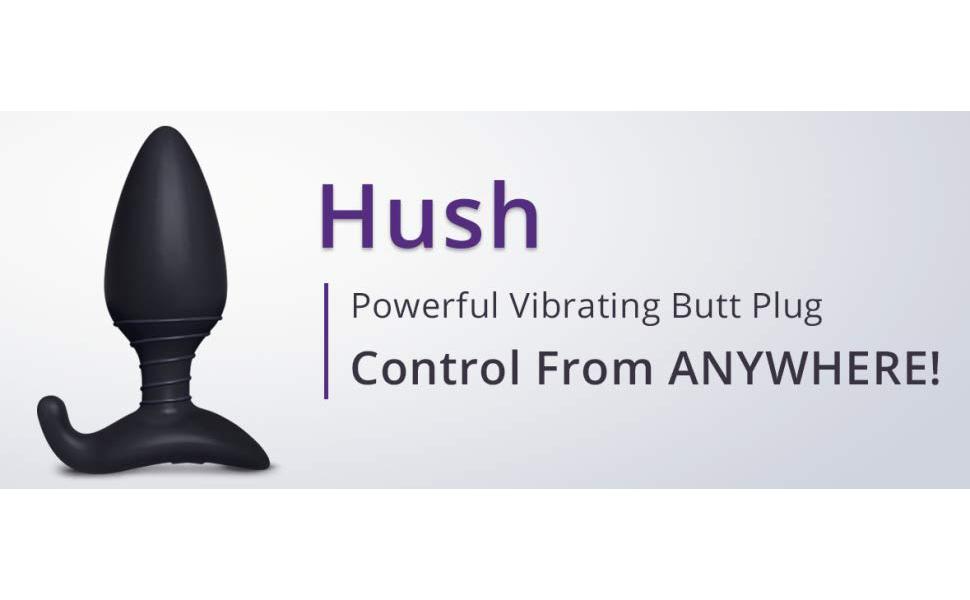 Hush, lovense, butt plug, vibrating, bluetooth